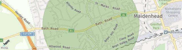 Map of Maidenhead