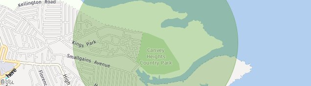 Map of Canvey Island