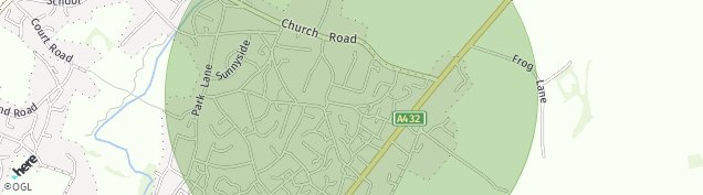 Map of Coalpit Heath