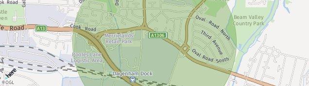 Map of Dagenham