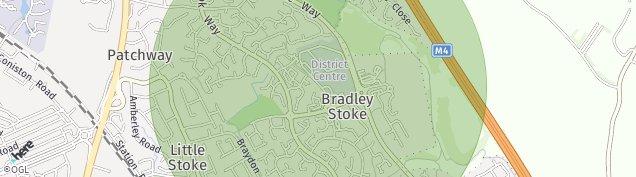 Map of Bradley Stoke