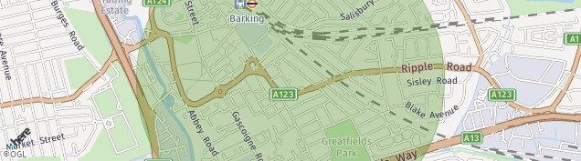 Map of Barking