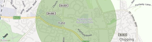 Map of Yate