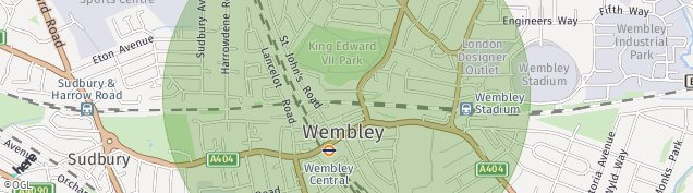 Map of Wembley