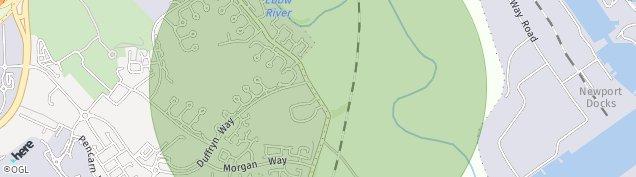 Map of Duffryn