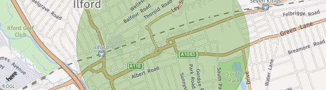 Map of Ilford