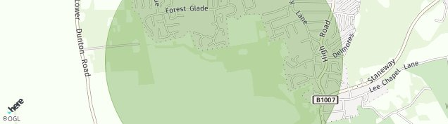 Map of Langdon Hills