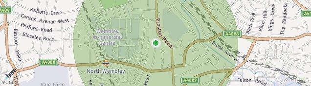 Map of Wembley