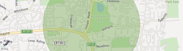 Map of Basildon
