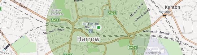 Map of Harrow