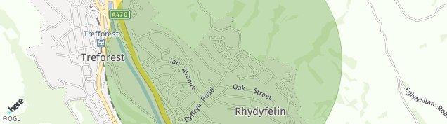 Map of Pontypridd