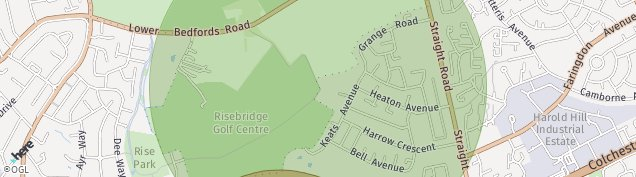Map of Romford