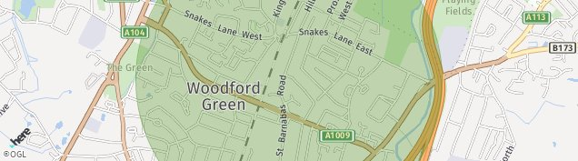 Map of Woodford Green
