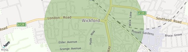 Map of Wickford