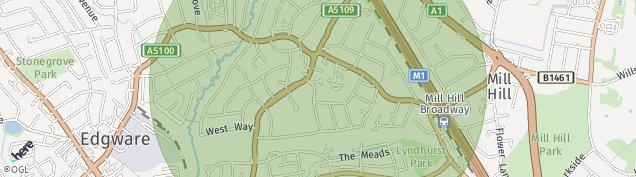Map of Edgware
