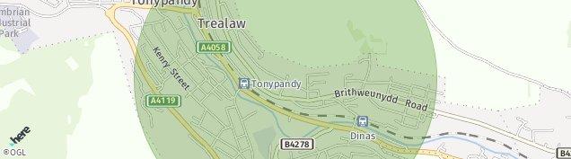 Map of Tonypandy