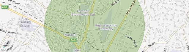 Map of High Wycombe