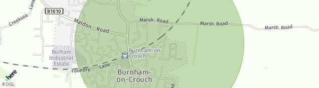 Map of Burnham-on-Crouch