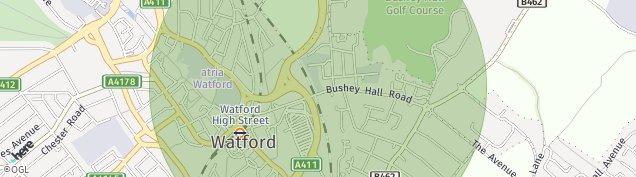 Map of Bushey