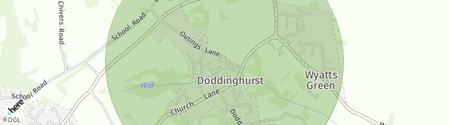 Map of Doddinghurst