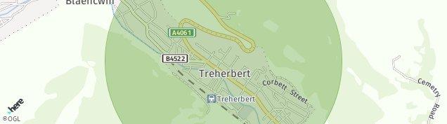 Map of Treherbert