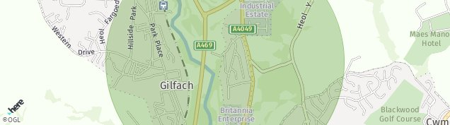 Map of Gilfach