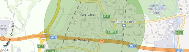 Map of Waltham Cross