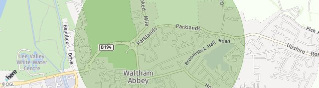 Map of Waltham Abbey