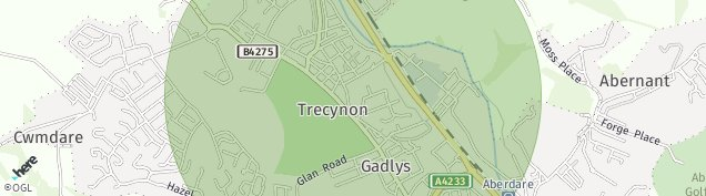 Map of Trecynon