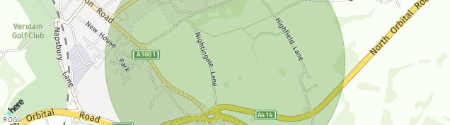 Map of London Colney