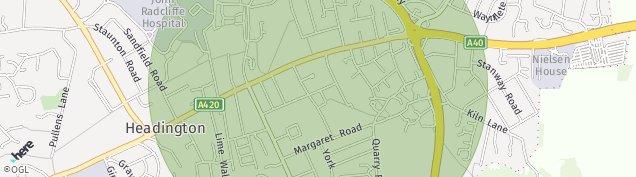 Map of Headington