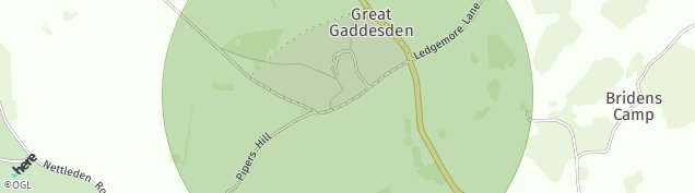 Map of Great Gaddesden
