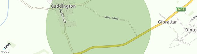 Map of Cuddington