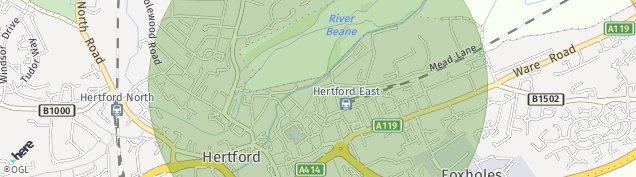 Map of Hertford
