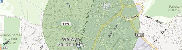 Map of Welwyn Garden City