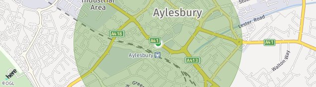 Map of Aylesbury