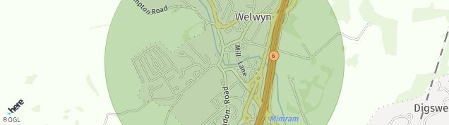 Map of Welwyn