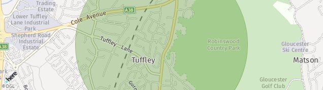 Map of Tuffley