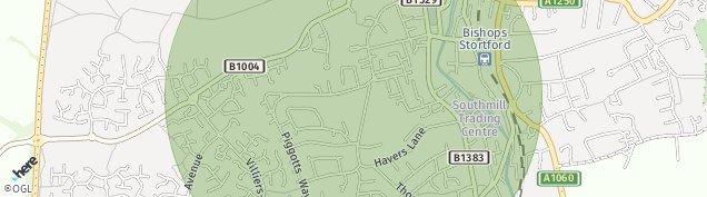 Map of Bishop's Stortford