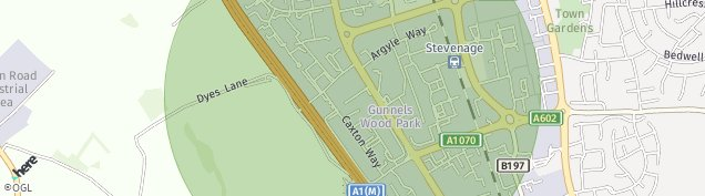 Map of Stevenage