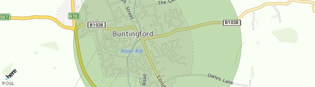 Map of Buntingford