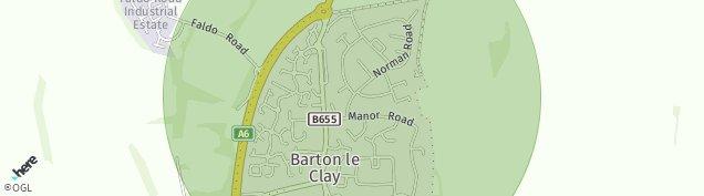 Map of Barton-le-Clay