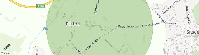Map of Flitton