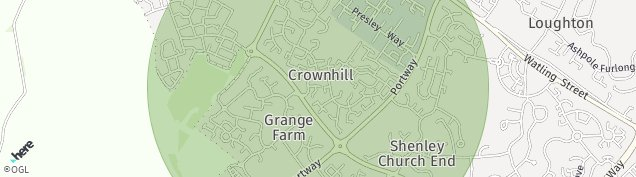 Map of Crownhill