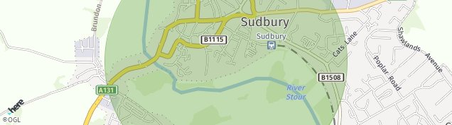 Map of Sudbury