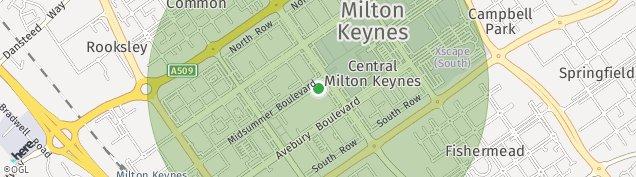 Map of Milton Keynes