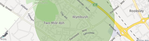 Map of Two Mile Ash