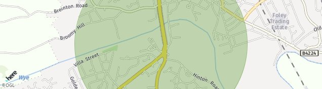 Map of Hereford