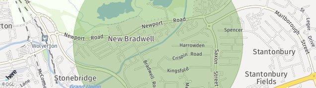 Map of Bradville