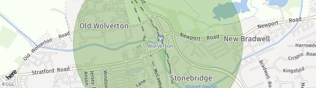 Map of Wolverton